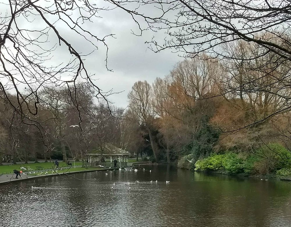 A visit to peaceful St Stephen's Green. Beautiful park surroundings.