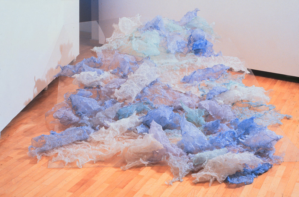 Excited Surface , object (plastic bags. fire, plexiglass), 1999