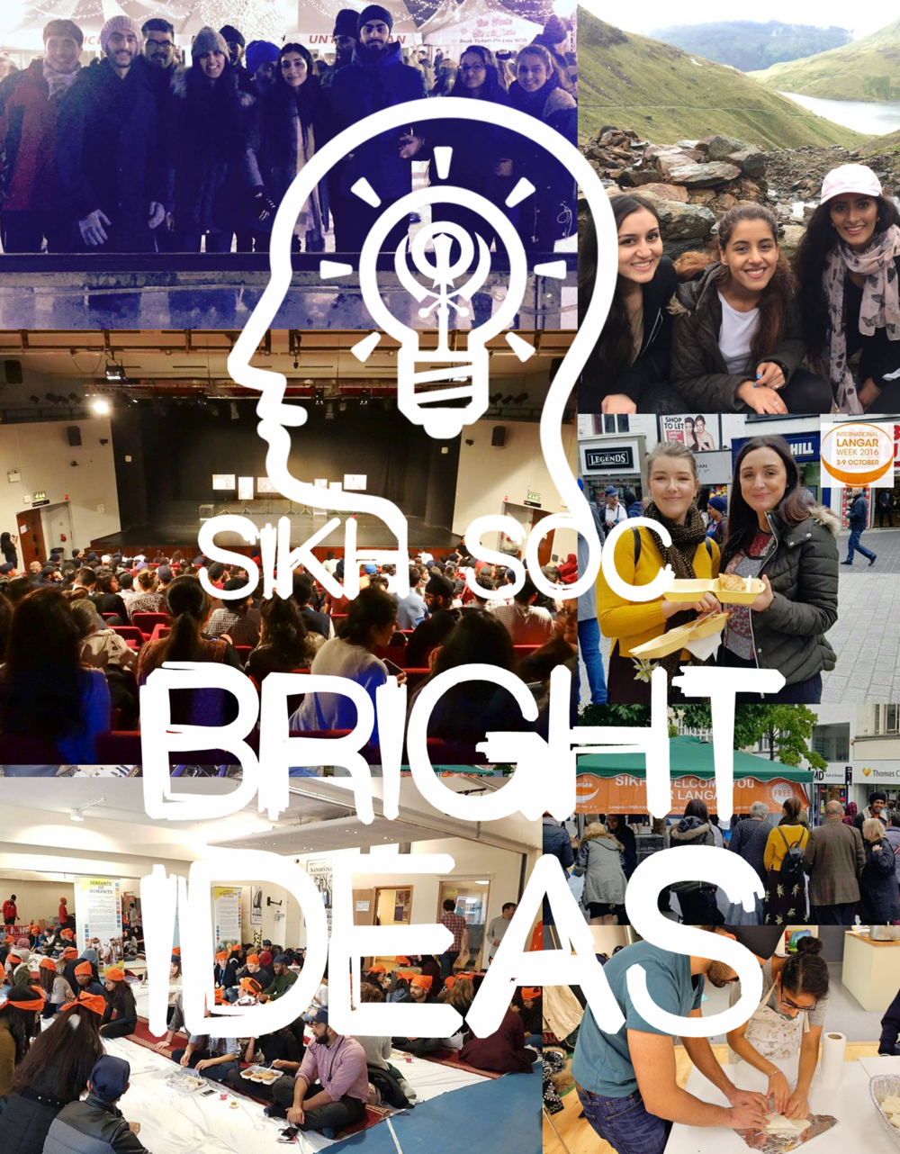 Bright Ideas Sikh Soc Bright Ideas is a new project from BOSS for new unexperienced Sikh Society committee members! Bright Ideas will provide a guide for planning and preparing events from previous successful Sikh Societies! If you'd like to share your experience in an event, follow the link on our page.