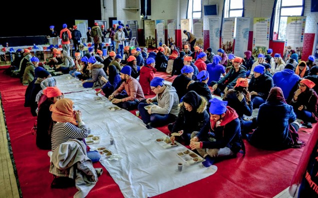 Langar on Campus at Aston University in 2016