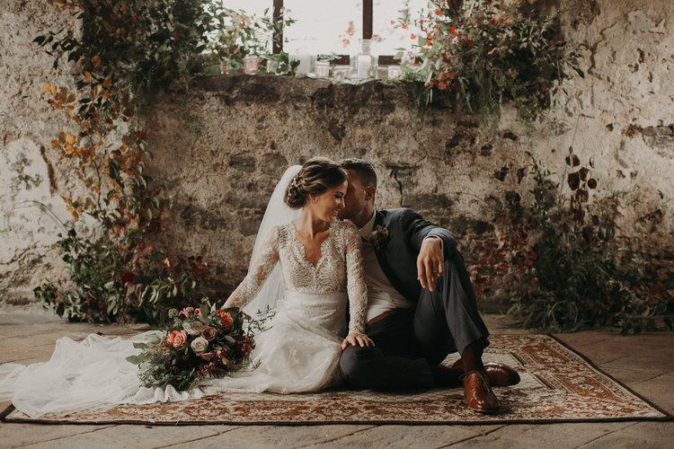 Wedding at Manorbier Castle