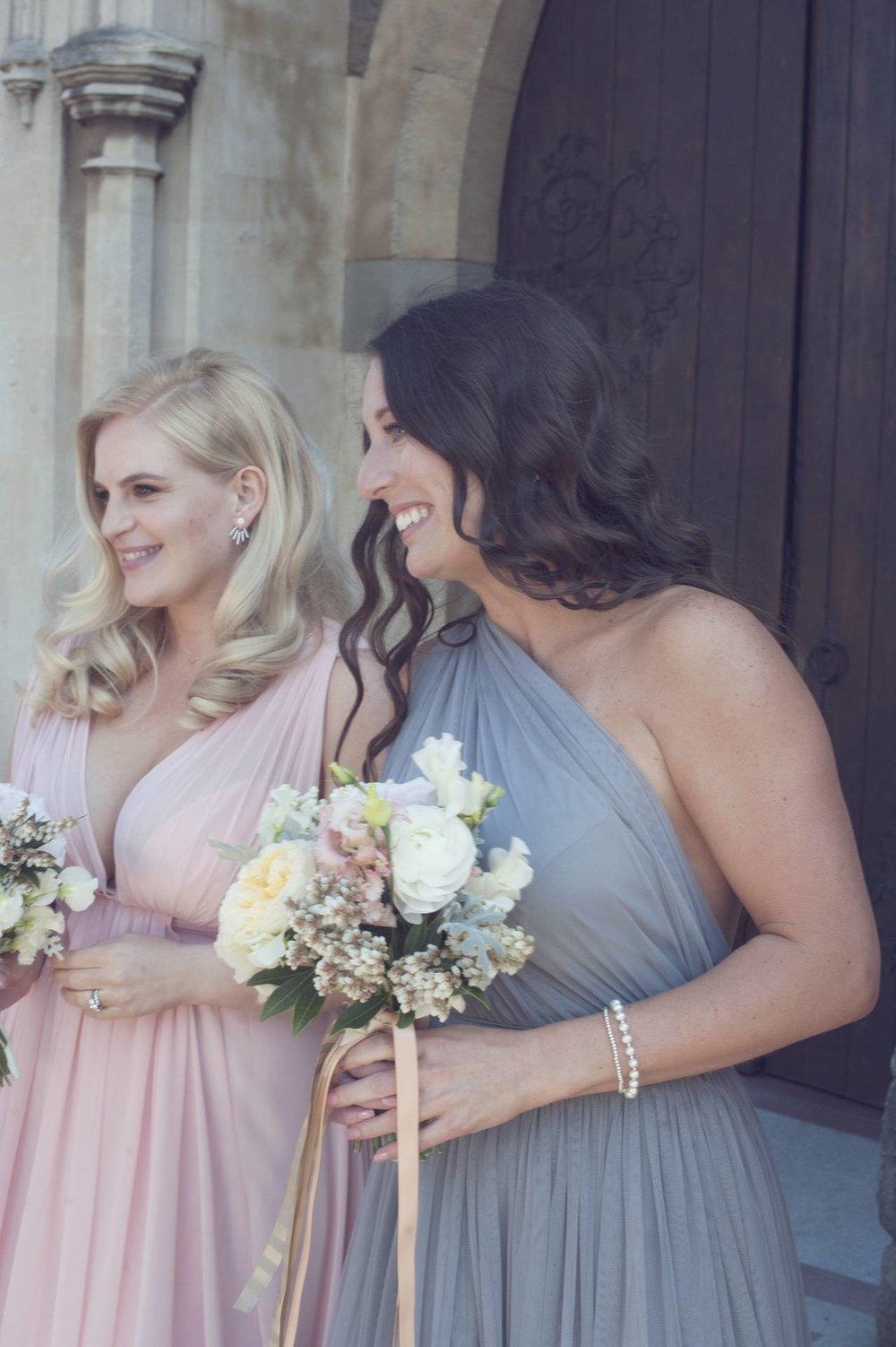 bridesmaids at the church