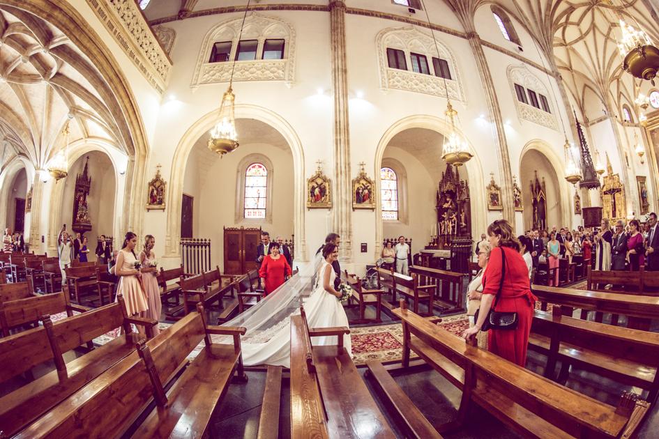 Entrada en la iglesia de san Jerónimo el real