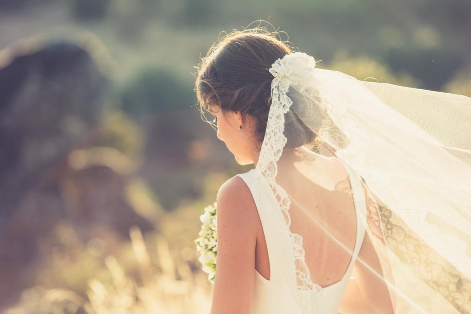 velo del vestido de novia