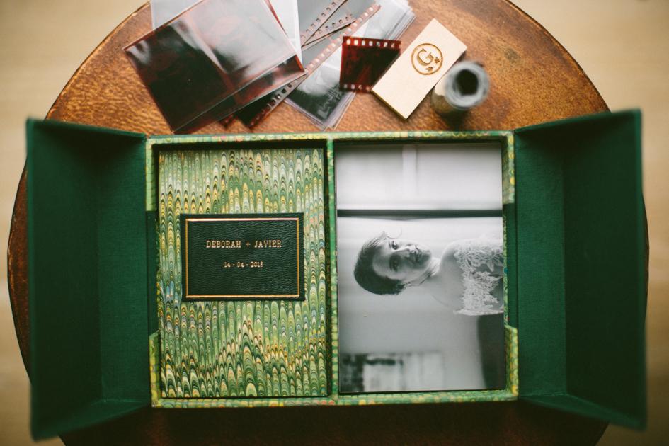 Album de fotografías de boda