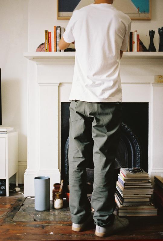 Cameron Studio wears Olive Ripstop Fatigues