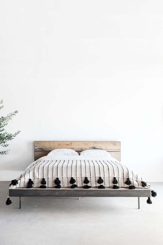 looks we love: why we\'re obsessed with moroccan pom pom blankets ...