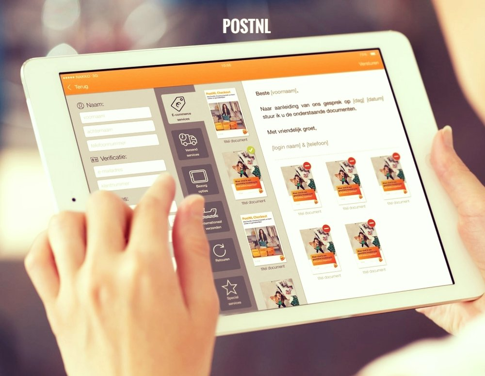 The ConventionApp was developed for PostNL -the dutch mailservice- to enable them to present all of their leaflets and collect leads at the same time. Sales persons roam the convention floors with iPads containing the full portfolio of services. The app not only presents the leaflets in a beautiful way, but also conveniently scans business cards, mails the leaflets to the interested party and exports all collected leads to PostNL's CRM systems.  Interested in tools that help your salesforce? Drop us a line! PostNL doubled their response ratio with this app…