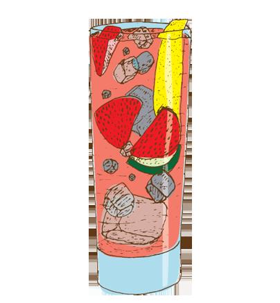 SeasonalLemomade - Muddled seasonal berries, vodka, fresh-squeezed lemon juice, simple syrup