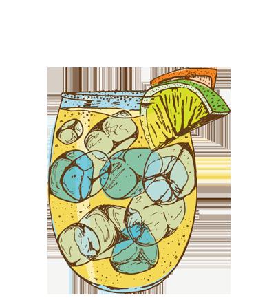 TOP SHELFMARGARITA - Tequila, Fresh Lemon Juice, Lime, Oragne Juice, Agave Nectar