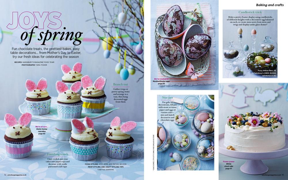 Sainsburys magazine easter march 2016 tara fisher photography easter 1g negle Choice Image