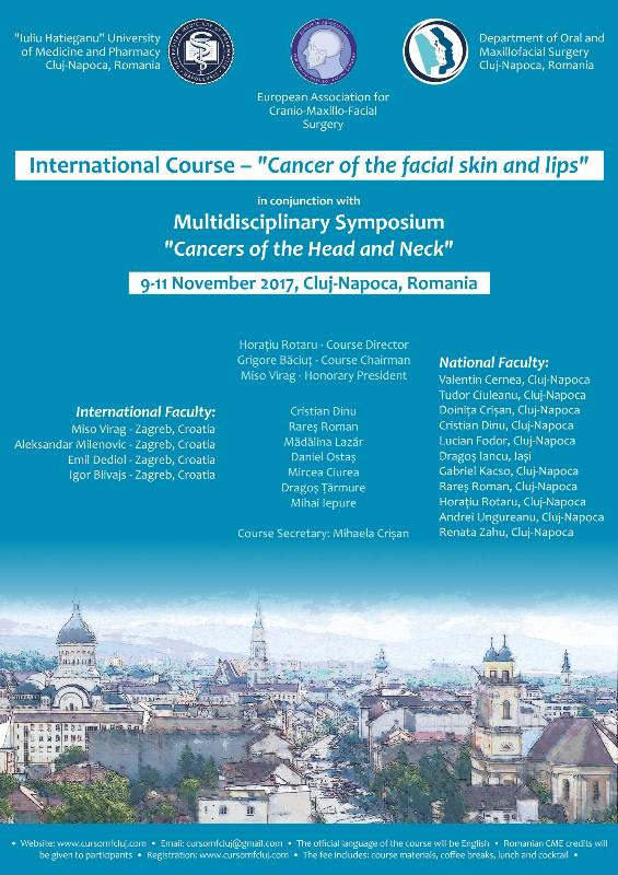 Cancer of the facial skin and lips - International Course   November 9th - November 11th     Credits: 22046448_1696737477027584_9205447455607674168_n.jpg