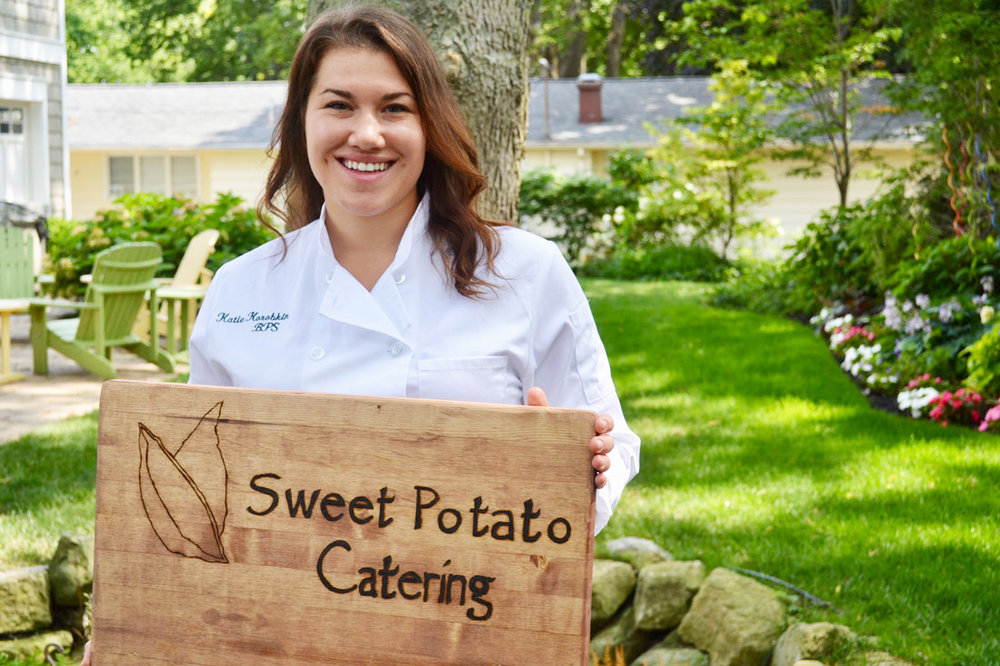 Our Story - Hello, I am Katie Korobkin, Chef/Owner of Sweet Potato Catering. My love of food started at a very early age. I was born in New York City, surrounded by some of the best cheese shops, butchers, and bakeries in the country. Great quality ingredients were all around me.