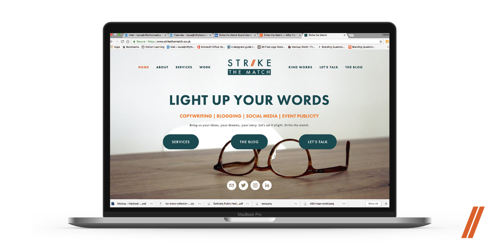 strike-the-match-portfolio-branding-website-nifty-fox-creative-sheffield