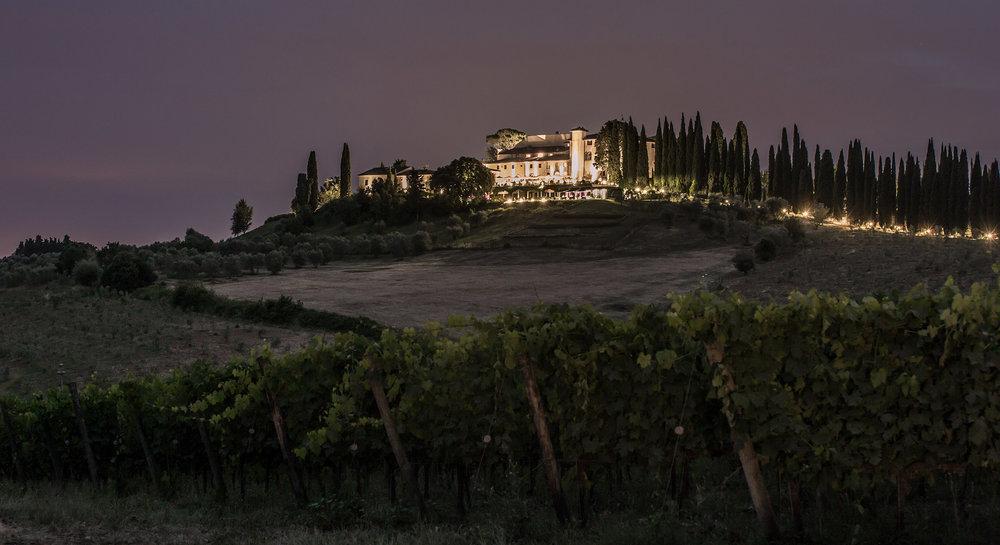 Landscape shot of Castello Del Nero.
