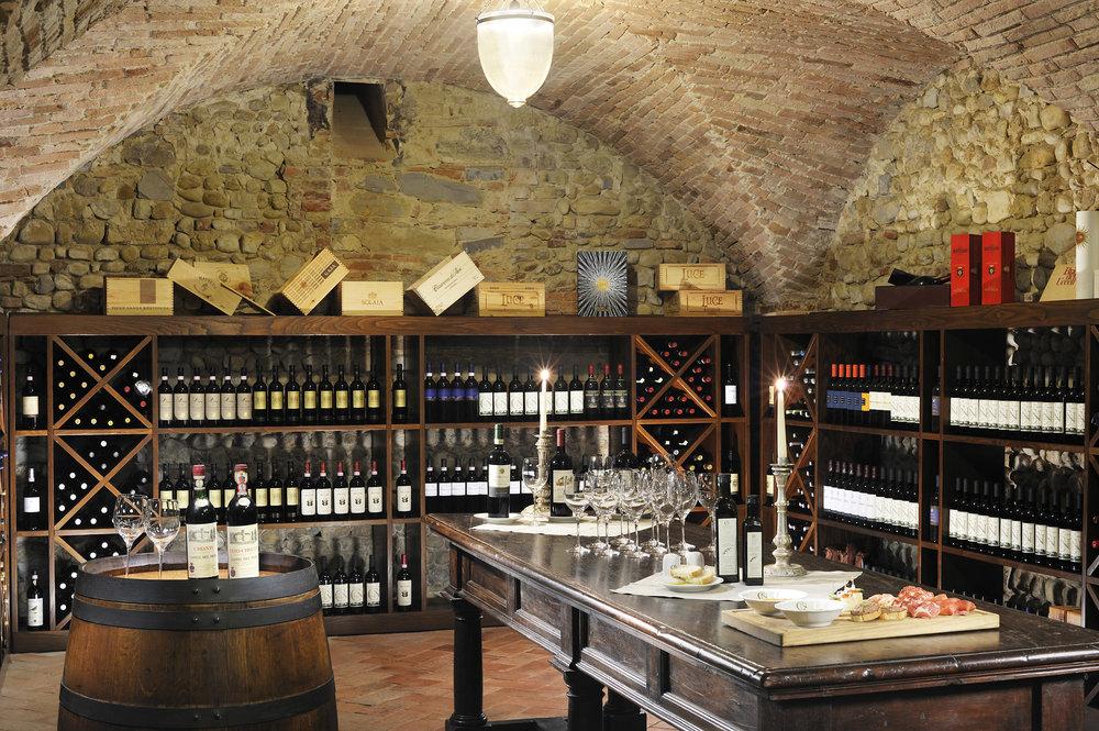 Castello Del Nero wine cellar.