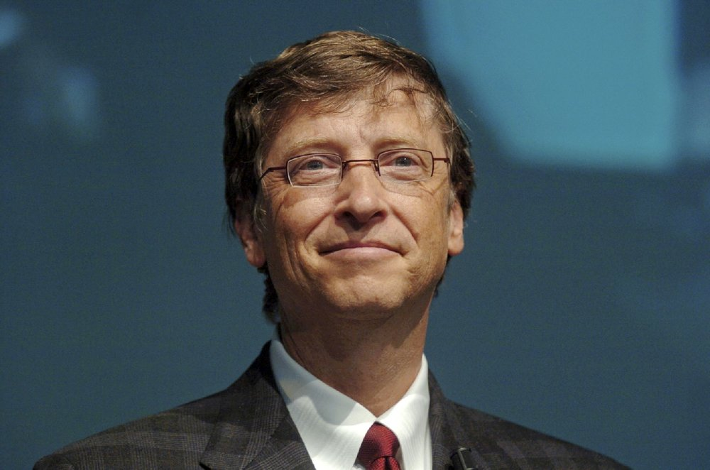 Bill Gates, co-founder of Microsoft: the worlds biggest software business.