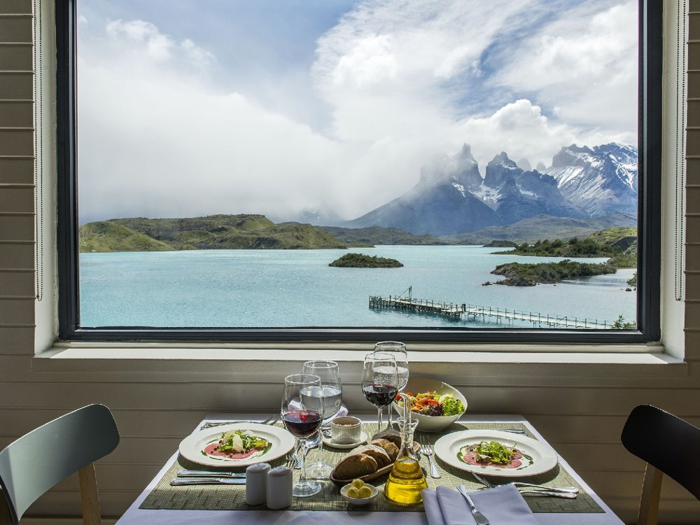 Breakfast with a view at Explora Patagonia Lodge