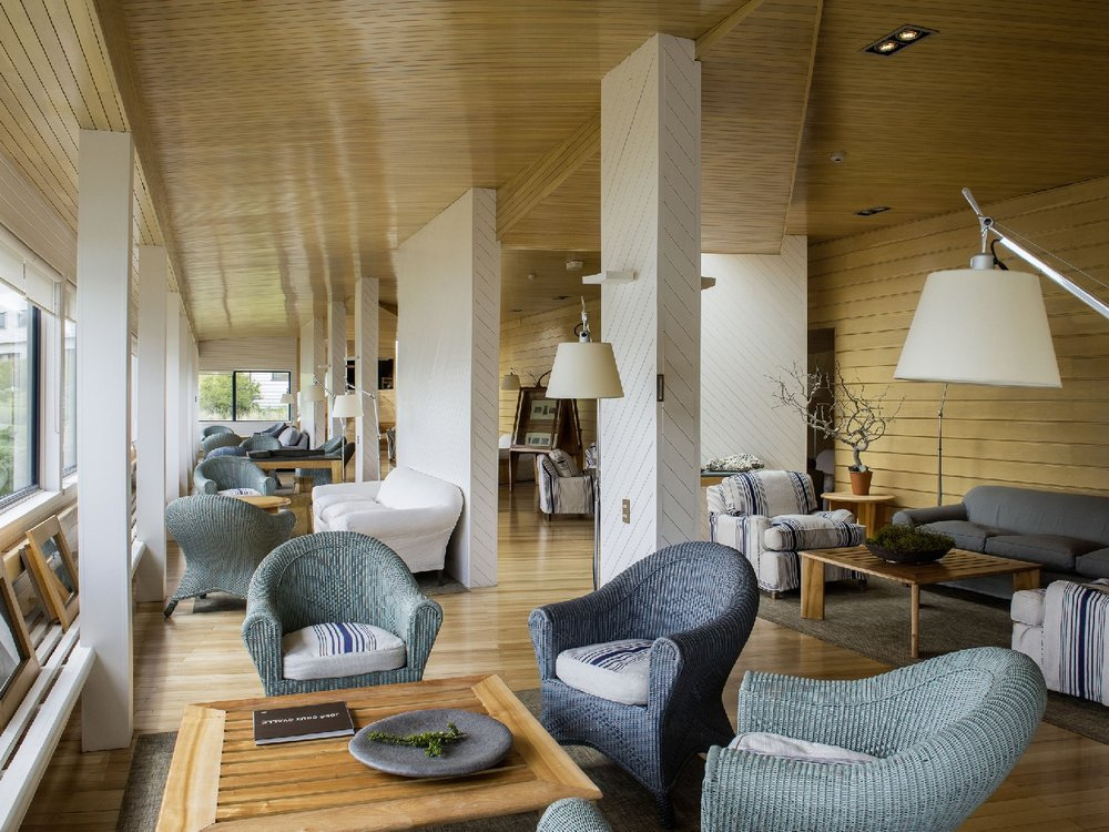 Explora Patagonia lodge lounge