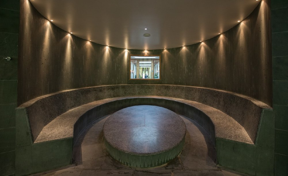 The heat area at Herb House Spa Lime Wood