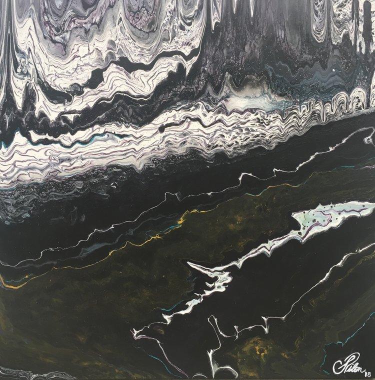 Resurgence, 2018. [available] - 24 x 24 Fluid mixed media on canvas.