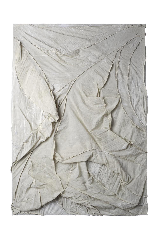 Segel, 2017, silk/ acrylic, 106x75cm
