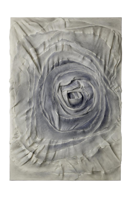 Untitled, 2017, silk/ cashmere/ oil, 110x75 cm