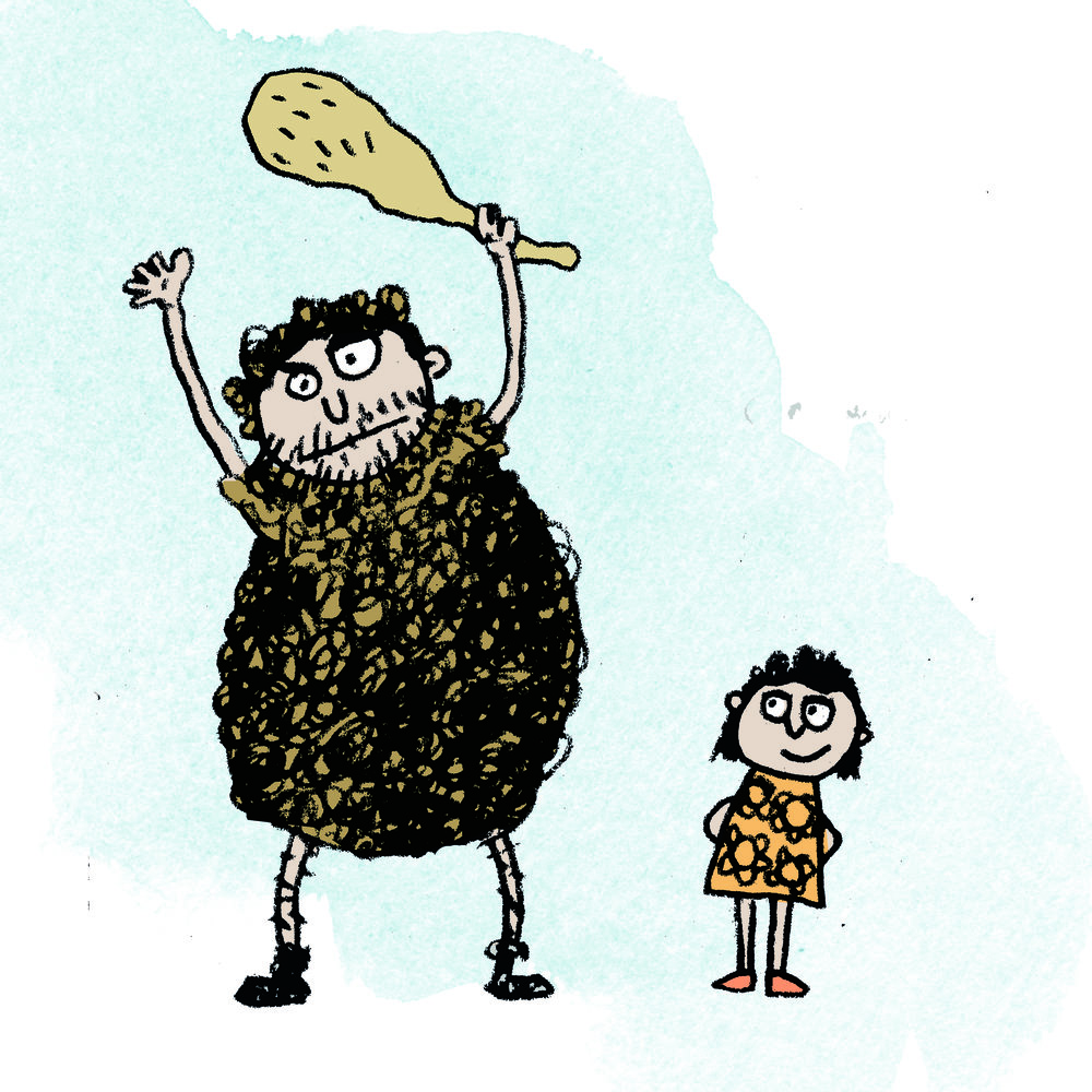 Caveman Dad illustrated by Steve Wells