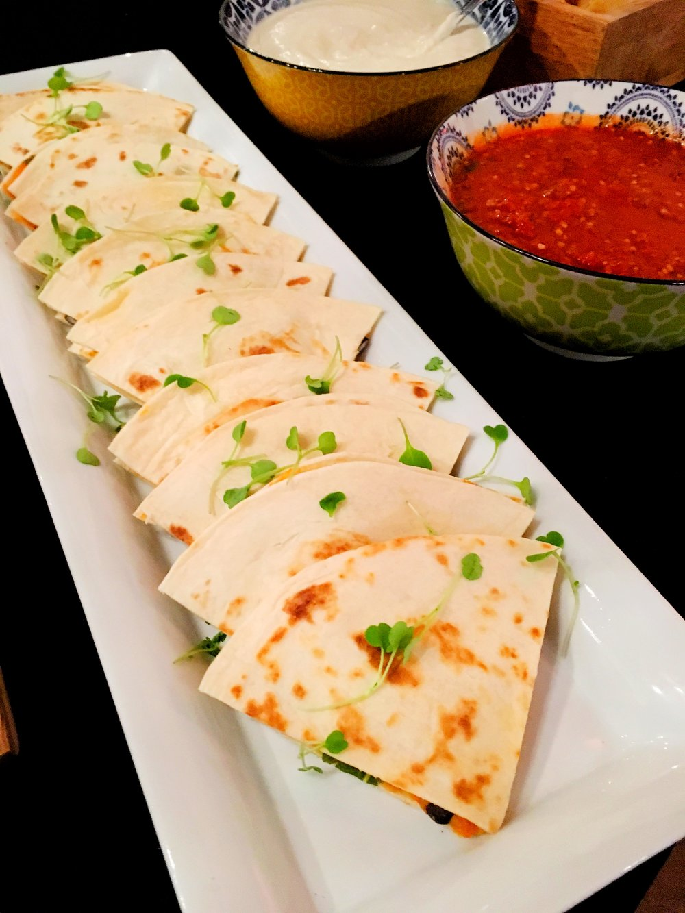quesadillas VEGG Catering