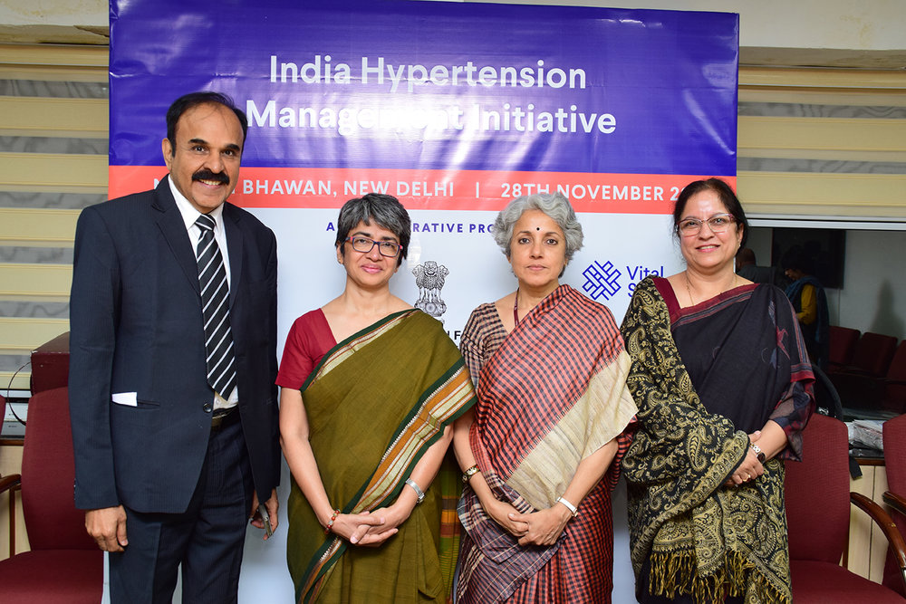 Middle left - Dr. Alka Aggarwal Singh, Country Director, Vital Strategies; Middle right - Dr. Soumya Swaminathan, Director-General, Indian Council of Medical Research and Secretary, Health Research, Government of India