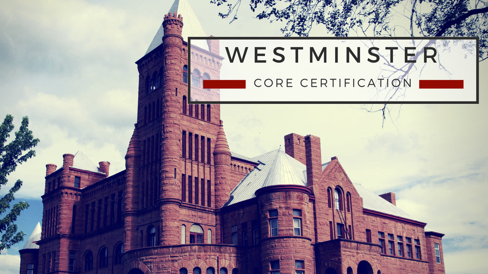 Westminster Core Cert.jpg