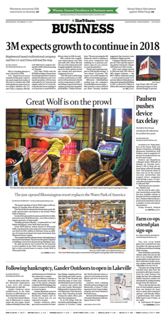 12.13.17 Great Wolf Lodge Grand Opening Star Tribune D1 Full Page.png