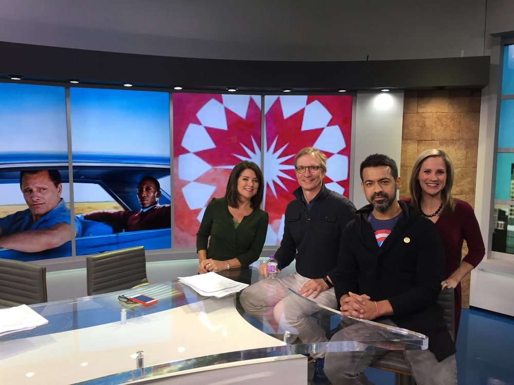 Alix Kendall, Fox 9 news anchor, Jim Burke, Green Book co-producer, Jatin Setia, executive director of the Twin Cities Film Festival and Kelly O'Connell, Fox 9 news anchor