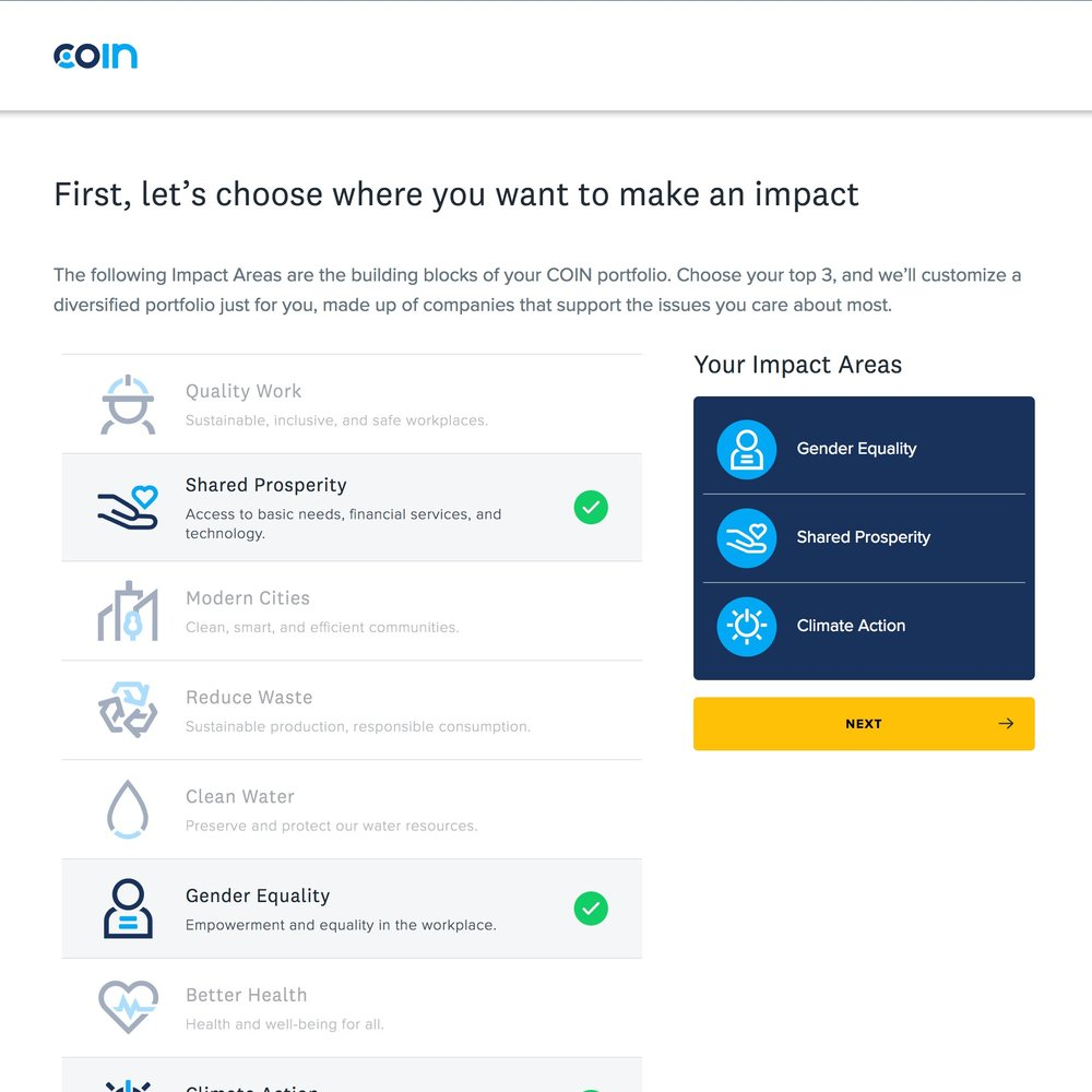 Launched COIN, an impact investing app - COIN by John Hancock