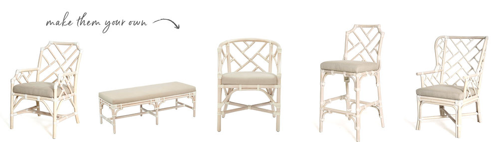 Custom Painted Rattan Furniture from A. HOME