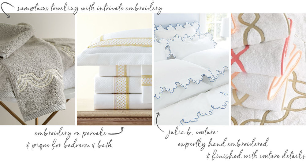 Julia B Couture & Matouk Bespoke - Custom bedding and bath linens from A. HOME, Summit, NJ