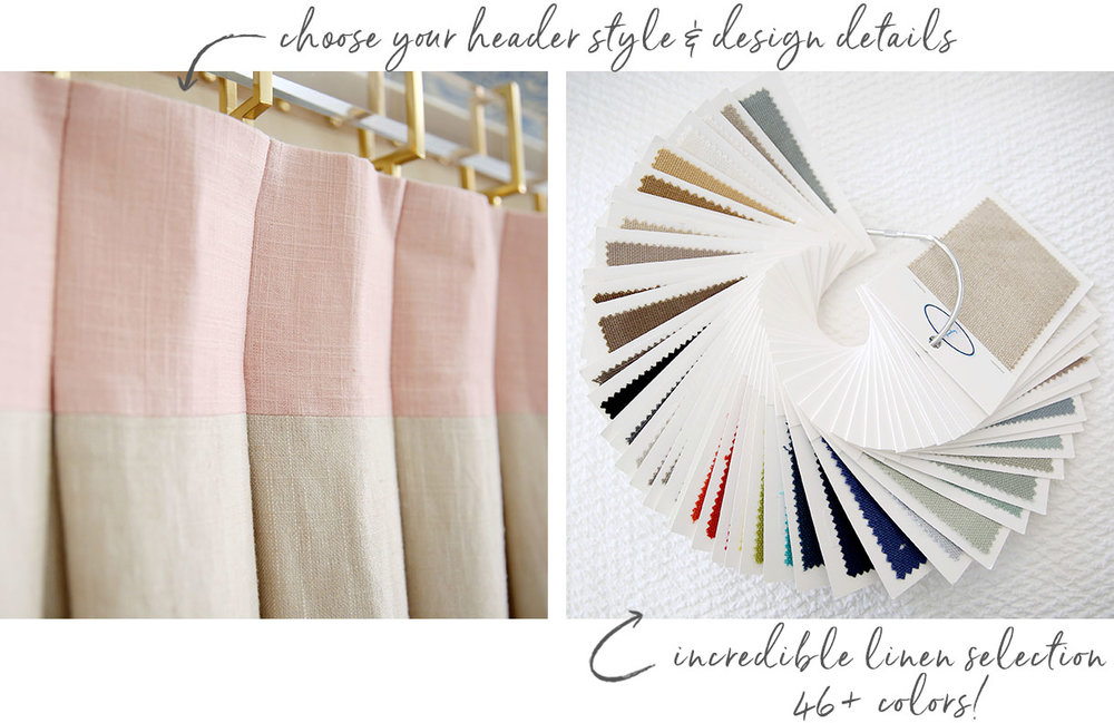 Custom linen drapery - Studio Linen Collection from A. HOME