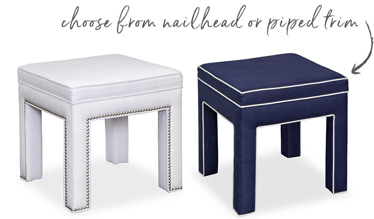 Custom linen benches & ottomans - Studio Linen Collection from A. HOME