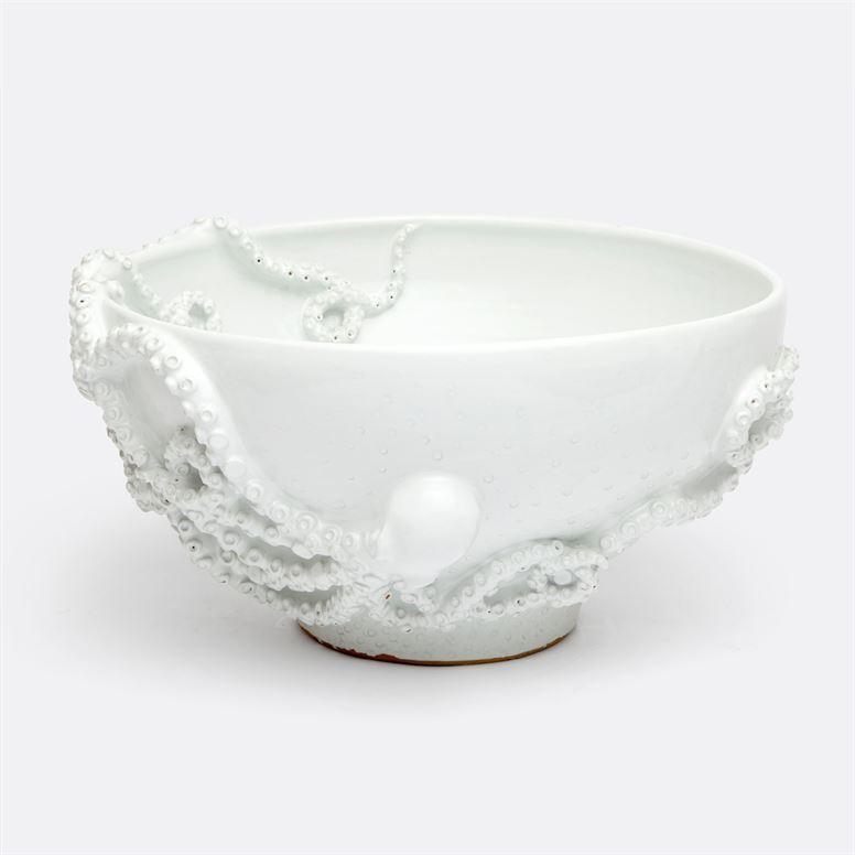 Octopus Stoneware Bowl