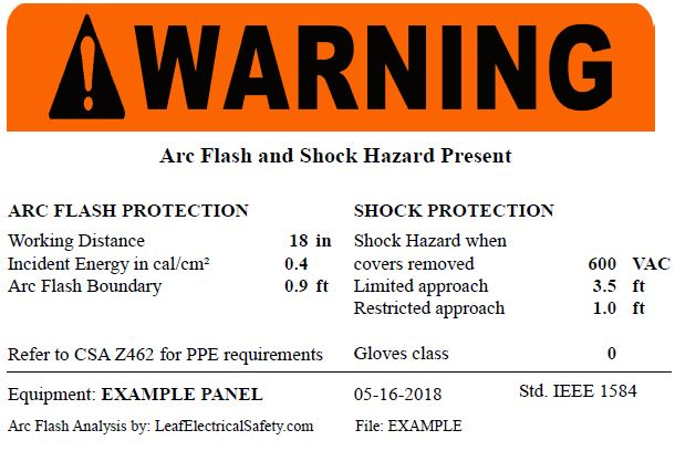 How to read arc flash labels leaf electrical safety for How to read arc flash labels