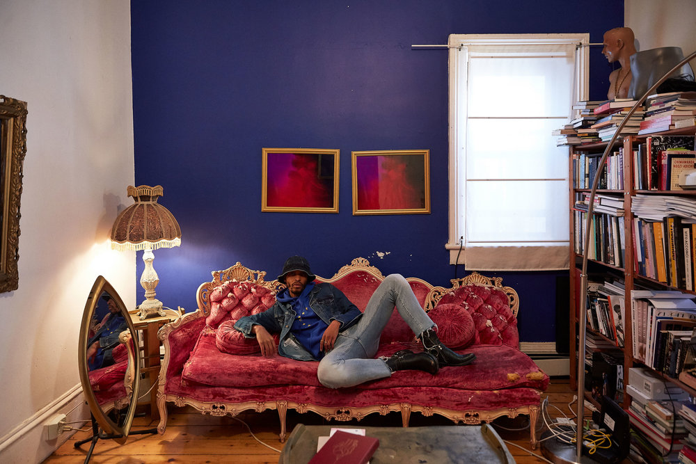 Antwaun at his home in Brooklyn
