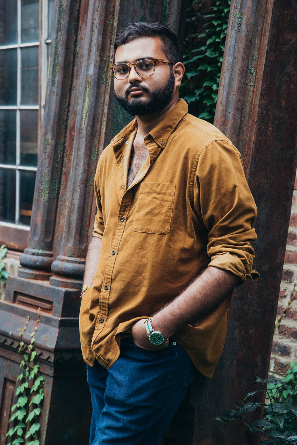 """It's all about sun, warmth and chest hair.""   Rohan wears the    Blue Jeans (Minnewaska Overdye)"