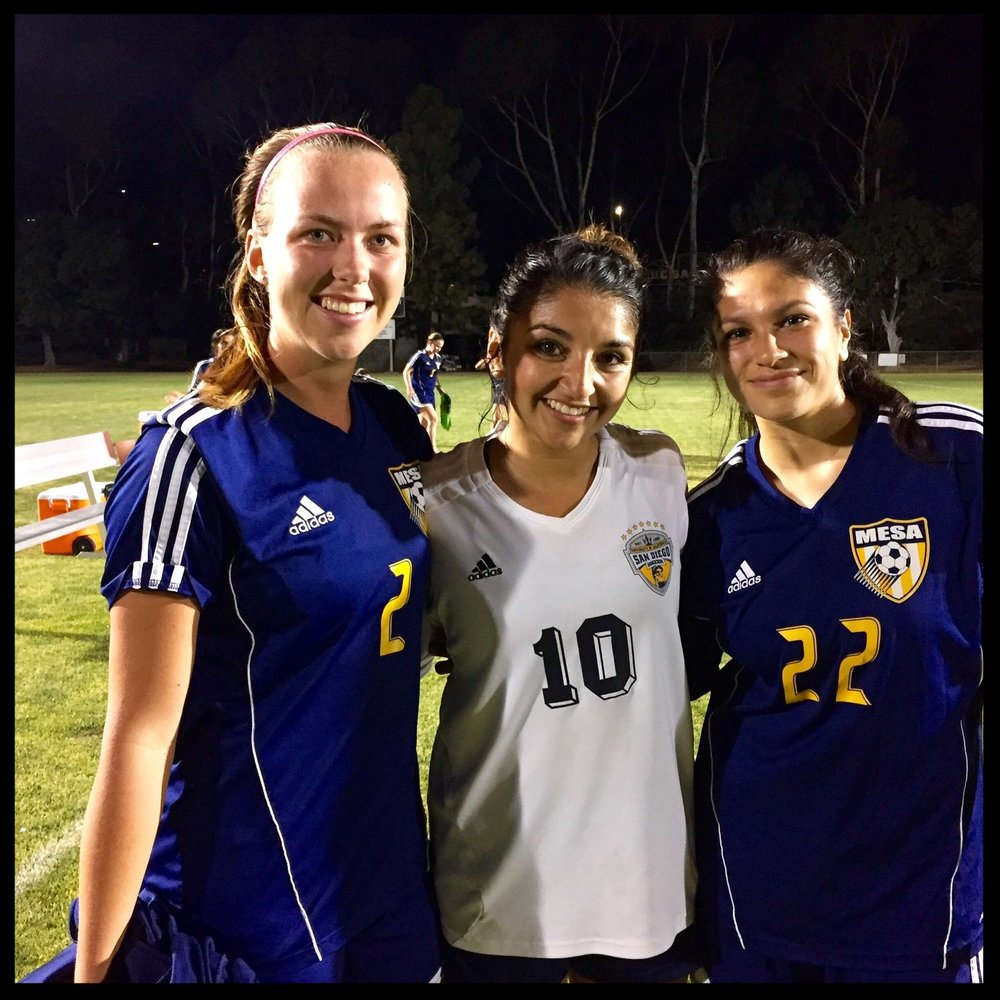 OVC alum at the next level. UCSD vs Mesa!  Kaitlin Harvey ,  Elisa Martinez , and  Kimberly Mederos . Way to go OVC!
