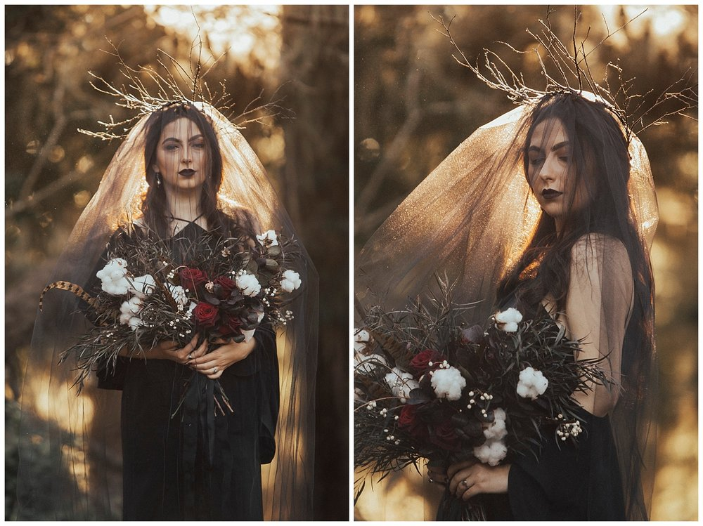 carol oliva photography black veil bride