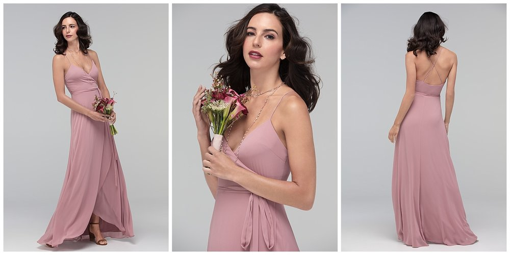 Watters fall 2017 bridesmaid blush crepe