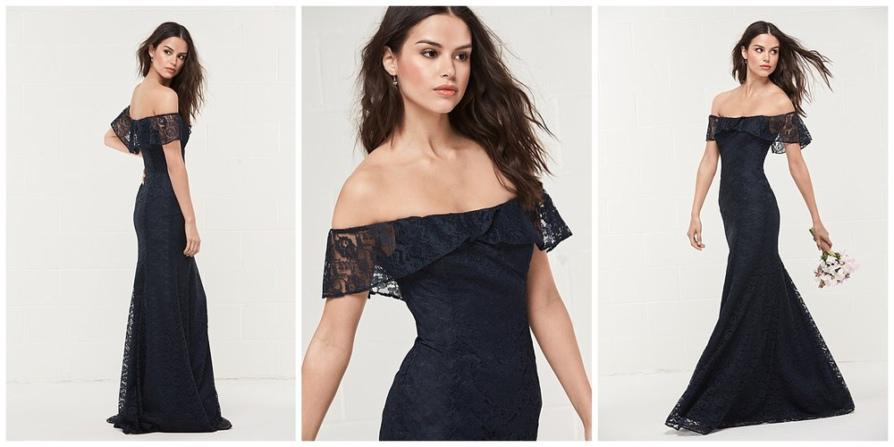 wtoo bridesmaid style 494 navy lace