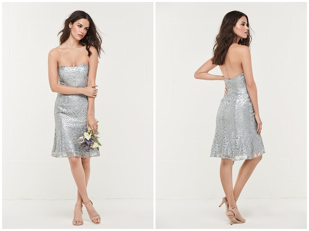 wtoo bridesmaid style 452 silver shimmer