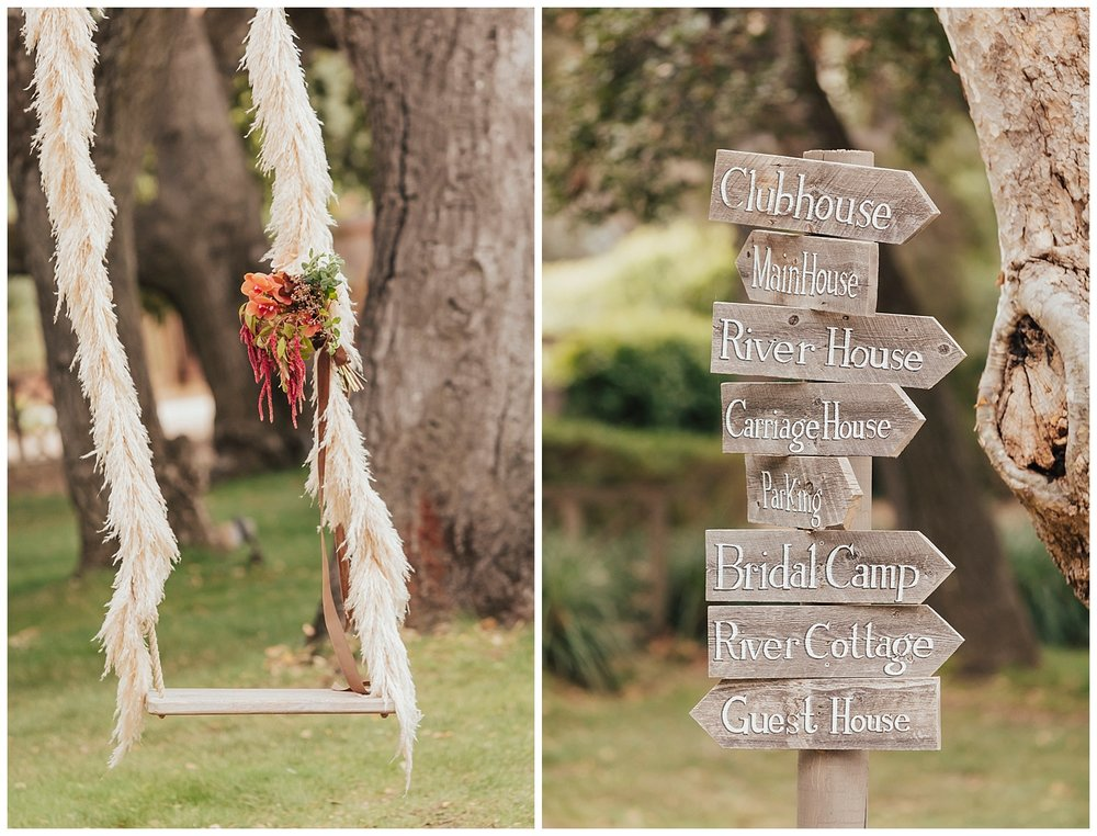 carol oliva photography boho wedding swing