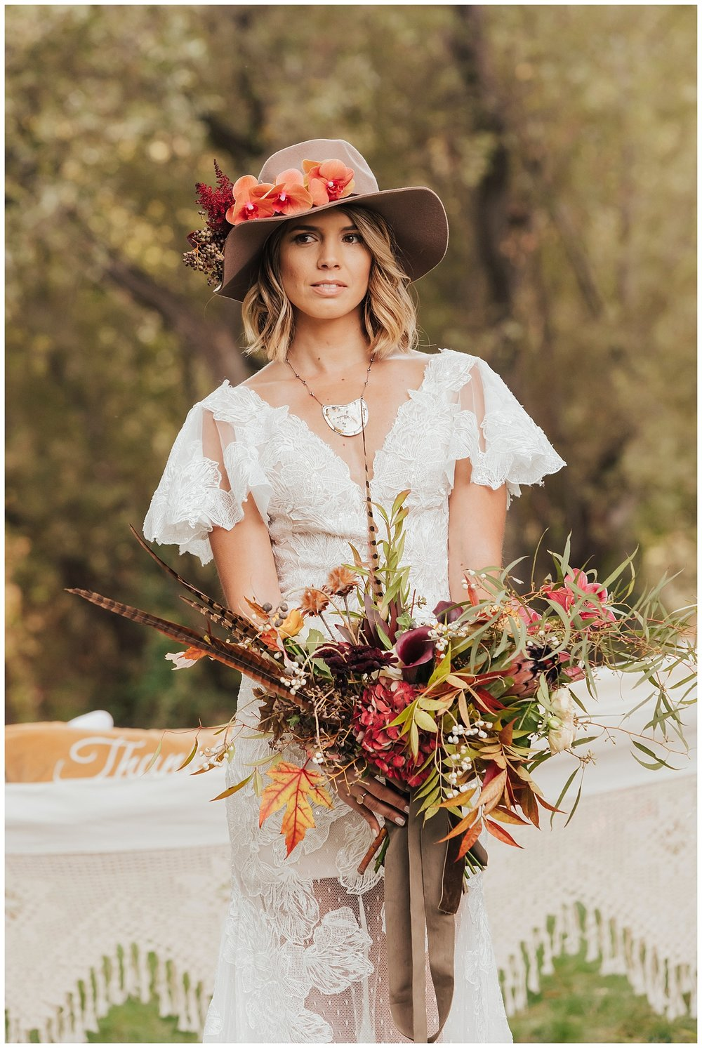 carol oliva photography boho bridal hat