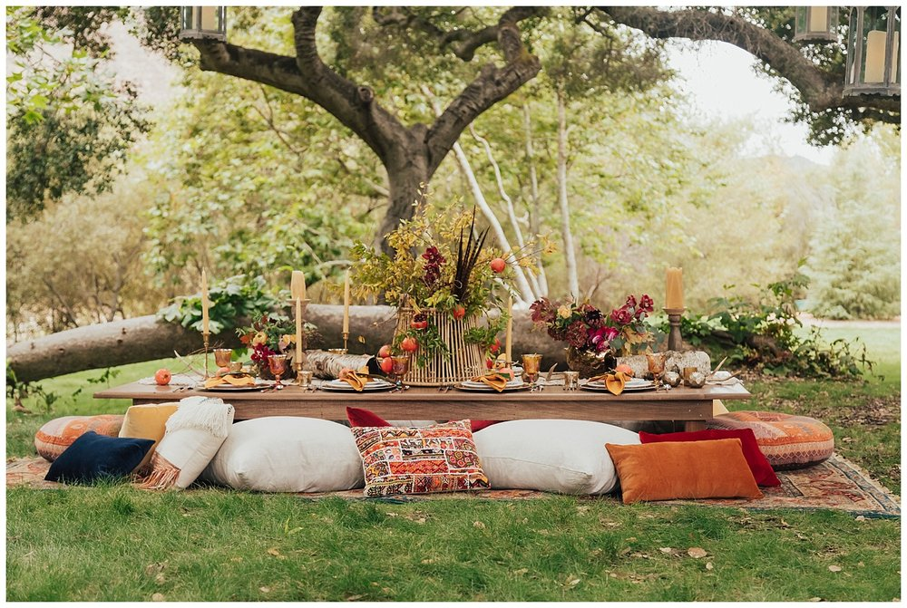 carol oliva photography boho bridal table setting